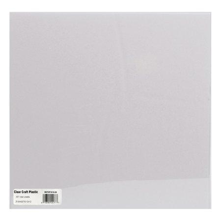 "Grafix Craft Plastic Sheets 12x12"" 25 Pack - Opaque White .010"