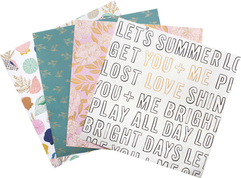 Crate Paper - Maggie Holmes Sunny Days - Single-Sided Paper Pad 12X12in 36 per pack