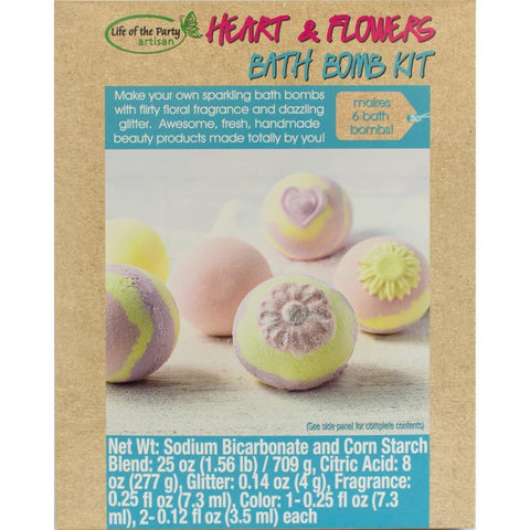 Life Of The Party - Bath Bomb Kit - Makes 6 Hearts & Flowers