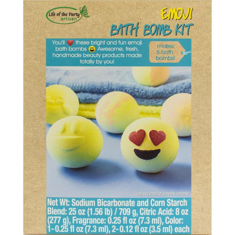 Life Of The Party - Bath Bomb Kit - Makes 6 Emoji
