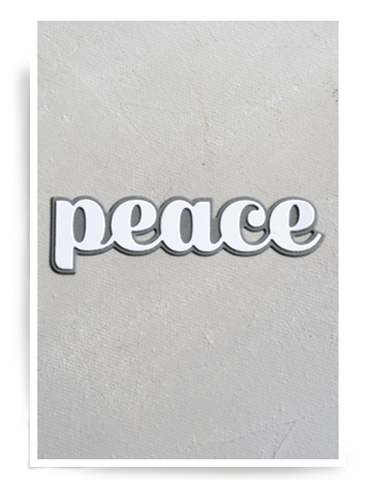 Birch Press Design Dies - Big Peace Sugar Script