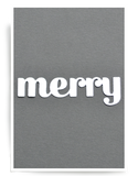 Birch Press Design Dies - Merry Sugar Script