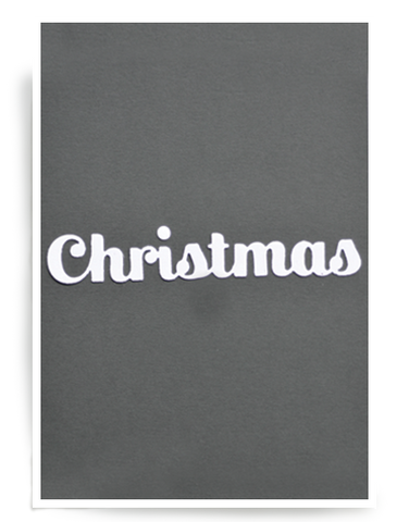 Birch Press Design Dies - Christmas Sugar Script