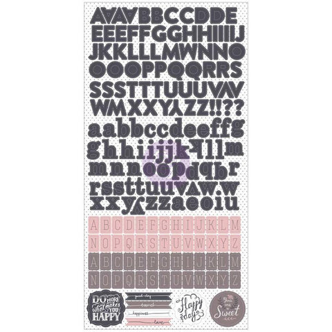 Prima Marketing - Rose Quartz Alphabet Stickers