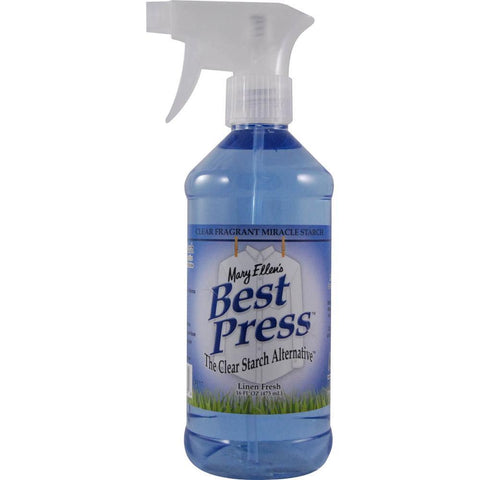 Mary Ellens Best Press Clear Starch Alternative 16.9oz Linen Fresh