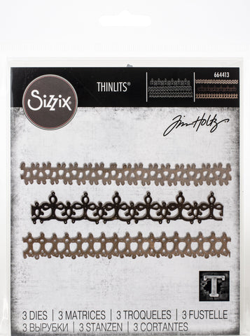 Sizzix - Thinlits Die Set 3 pack – Crochet #2 by Tim Holtz