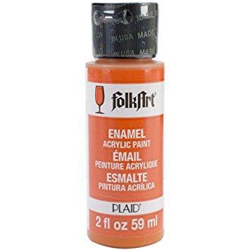 FolkArt Enamel Paint 2oz - Pure Orange