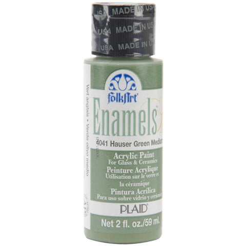 FolkArt Enamel Paint 2oz - Hauser Green Medium