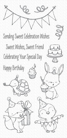 My Favorite Things Stamps - SY Sending Sweet Celebration Wishes