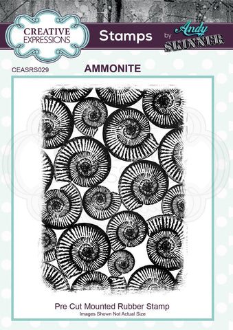 Creative Expressions Andy Skinner Stamp - Ammonite 4.5 in x 3.2 in