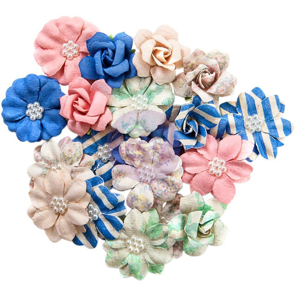 Prima Marketing - Santorini Mulberry Paper Flowers 20 Pack - Firostefani