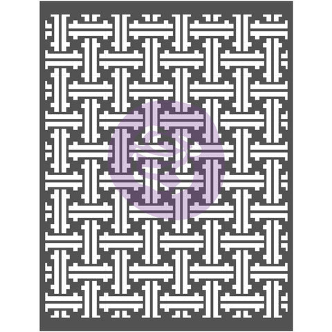 Prima Marketing - Prima Re-Design Decor Stencil 22x28 inch - Basket Weave