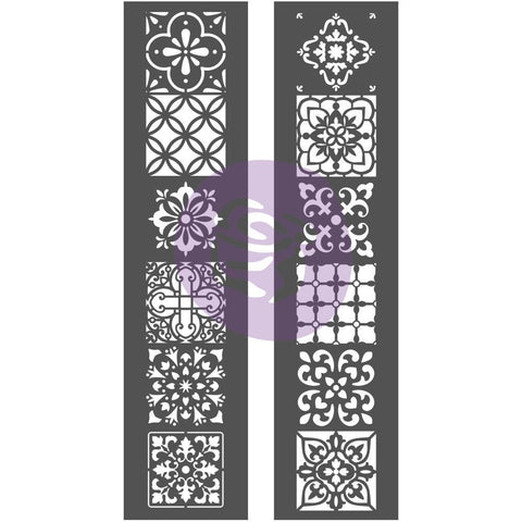 Prima Marketing - Prima Re-Design Decor Stencil 2 pack 8x26.375 inch - Morocco