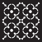 Prima Re-Design Heavy Duty Concrete Stencil 11.5 inch X11.5 inch Madina