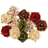 Prima Marketing - Mulberry Paper Flowers - Nutcracker/Christmas In The Country