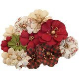 Prima Marketing - Mulberry Paper Flowers - St. Nick/Christmas In The Country