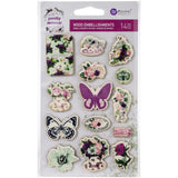 Prima Marketing - Pretty Mosaic Wood Stickers 14 pack