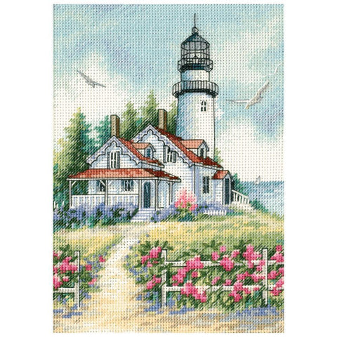 Dimensions/Gold Petite Counted Cross Stitch Kit 5x7inch - Scenic Lighthouse (18 Count)