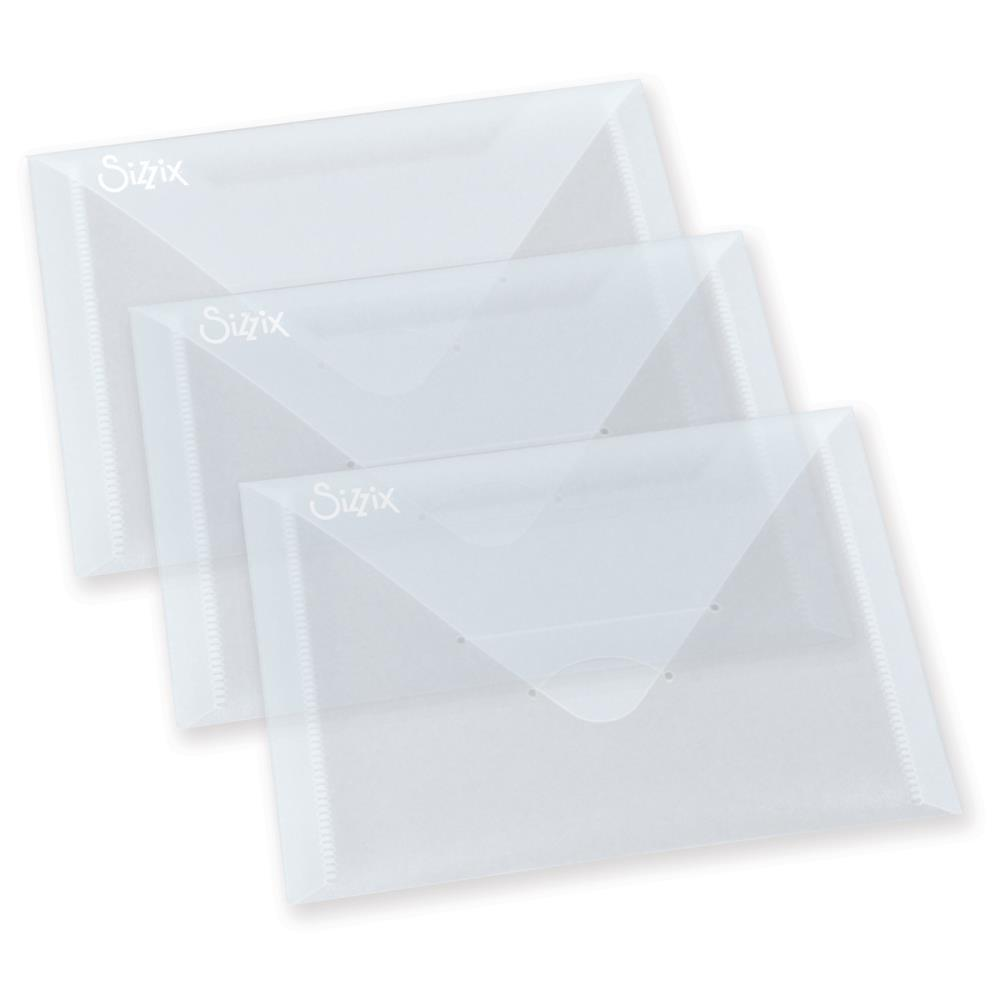 Sizzix Plastic Envelopes 3 pack 6.875 inch X5 inch