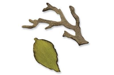 Sizzix Movers & Shapers Die - Tim Holtz - Mini Branch & Leaf Set *