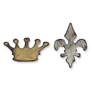 Sizzix Movers & Shapers Die - Tim Holtz - Mini Crown & Fleur Set *
