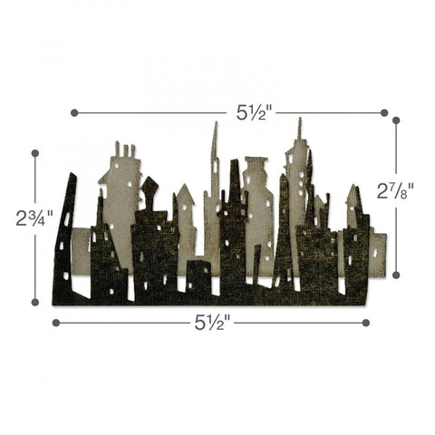 Sizzix Thinlits Dies By Tim Holtz 2 Pk -  Skyline Cityscape