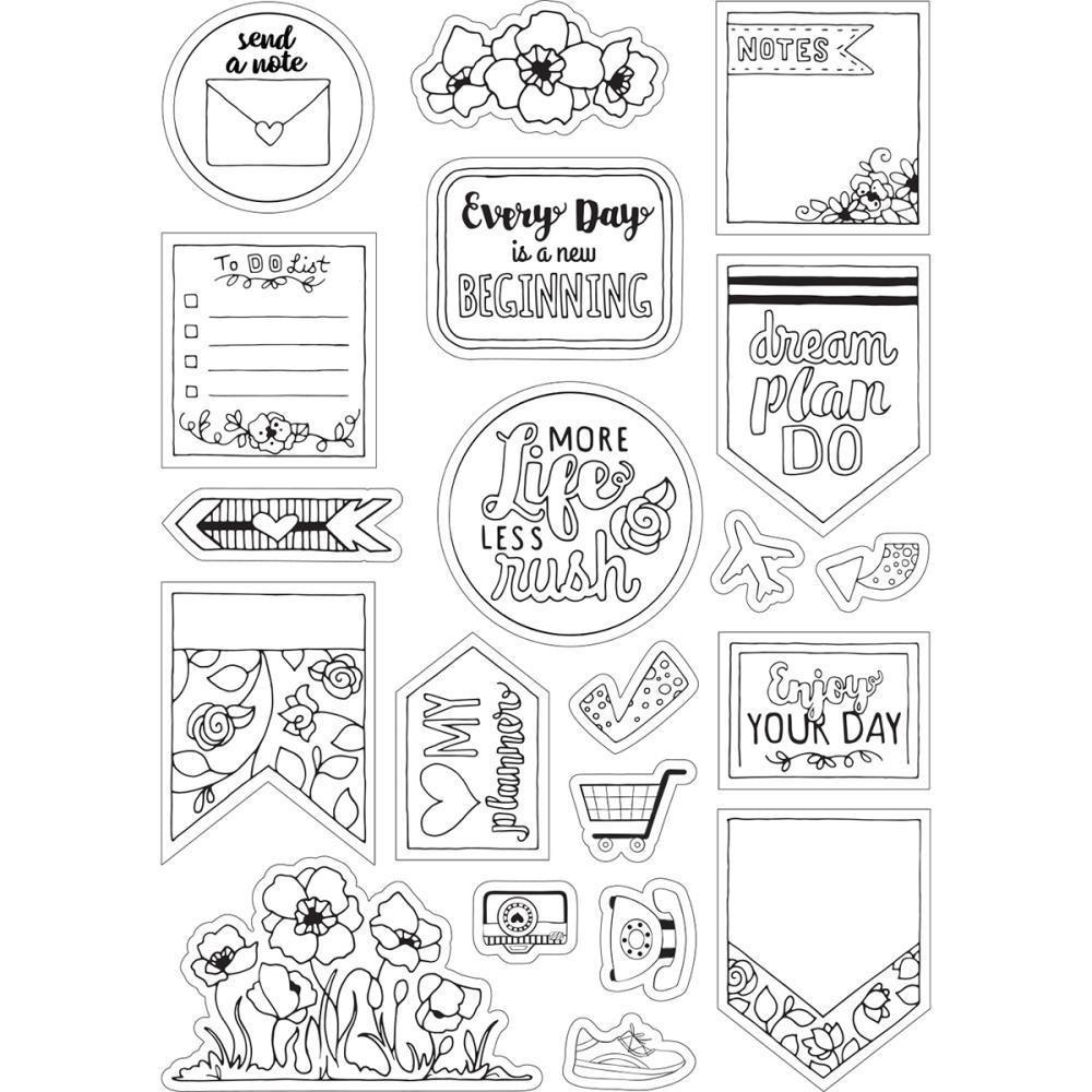 Sizzix Coloring Stickers By Katelyn Lizardi Color Your Planner