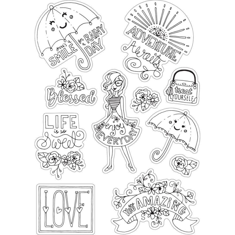 Sizzix Coloring Stickers By Katelyn Lizardi Enjoy Every Day