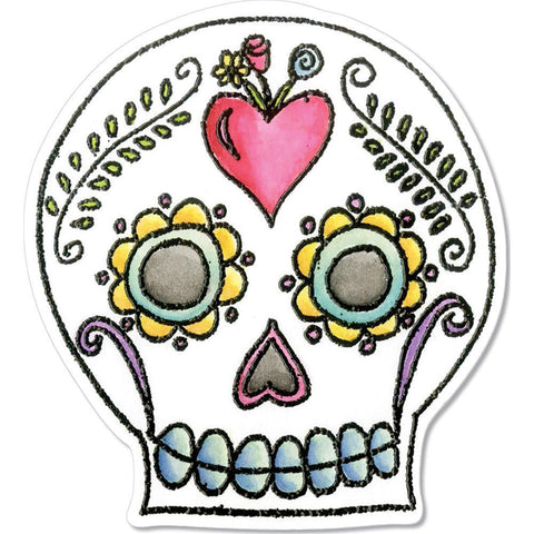 Sizzix Framelits Die & Stamp Set By Crafty Chica 4 pack Sugar Skull
