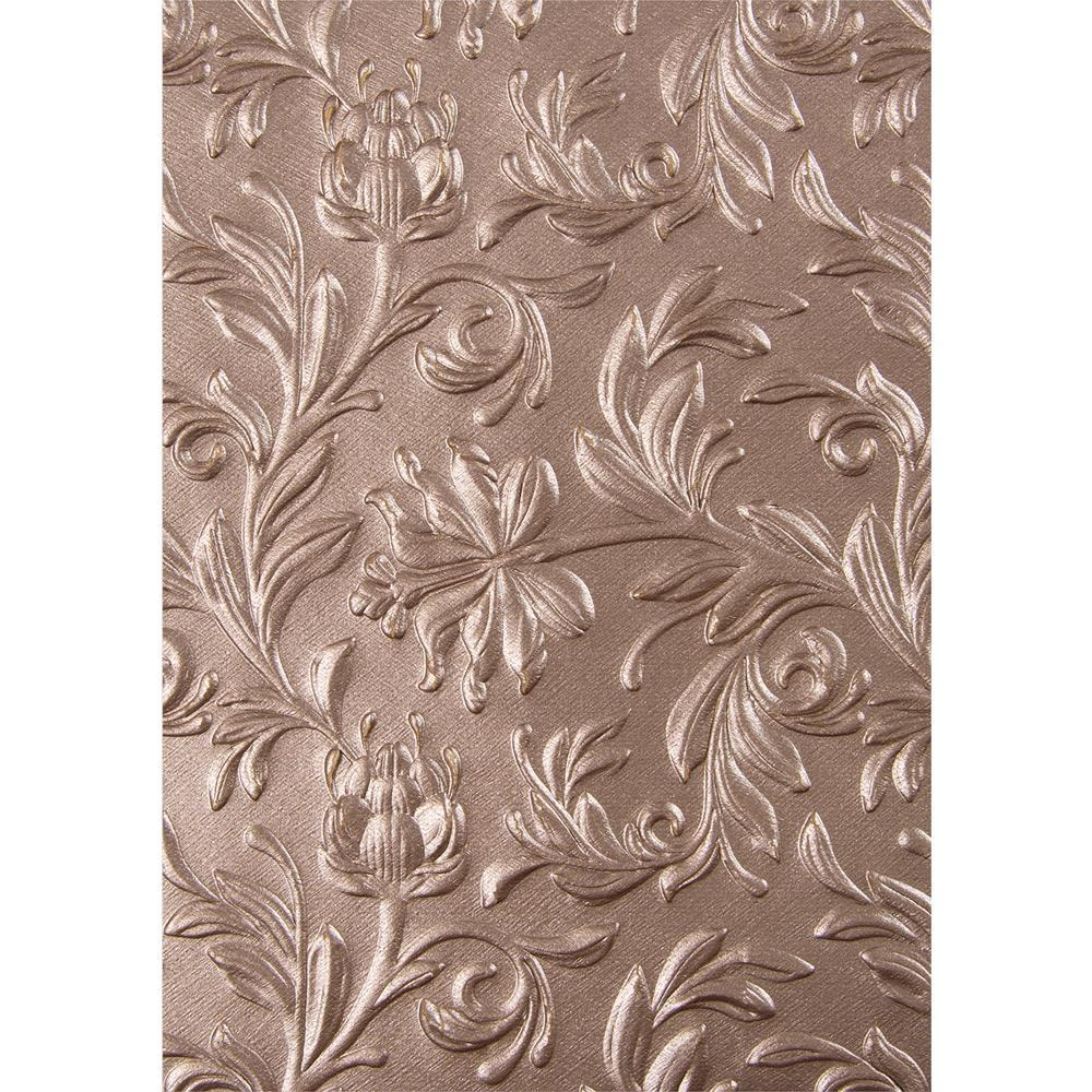 Sizzix 3D Texture Fades Embossing Folder By Tim Holtz Botanical