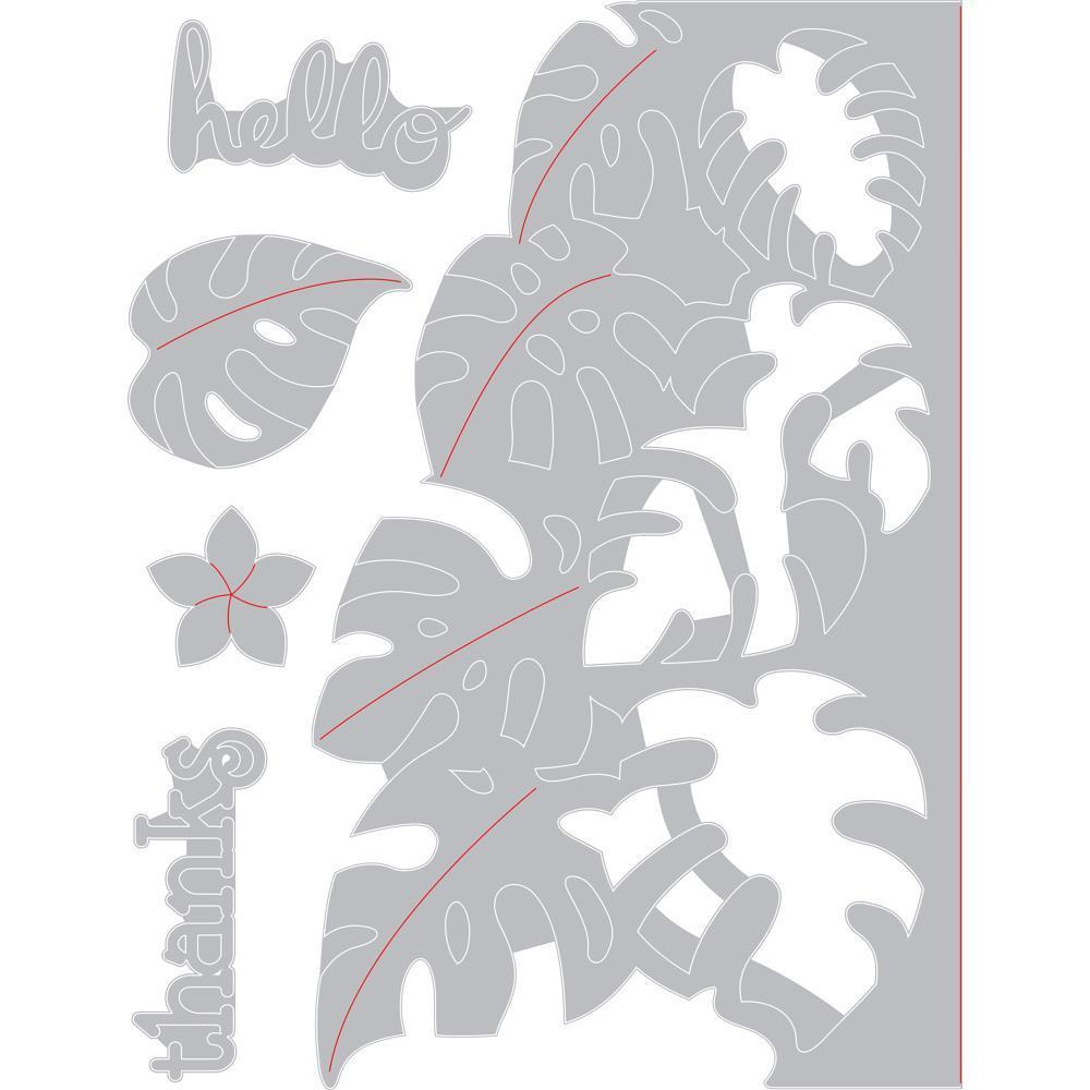 Sizzix Thinlits Dies By Lynda Kanase Tropicool Leaves Card Front