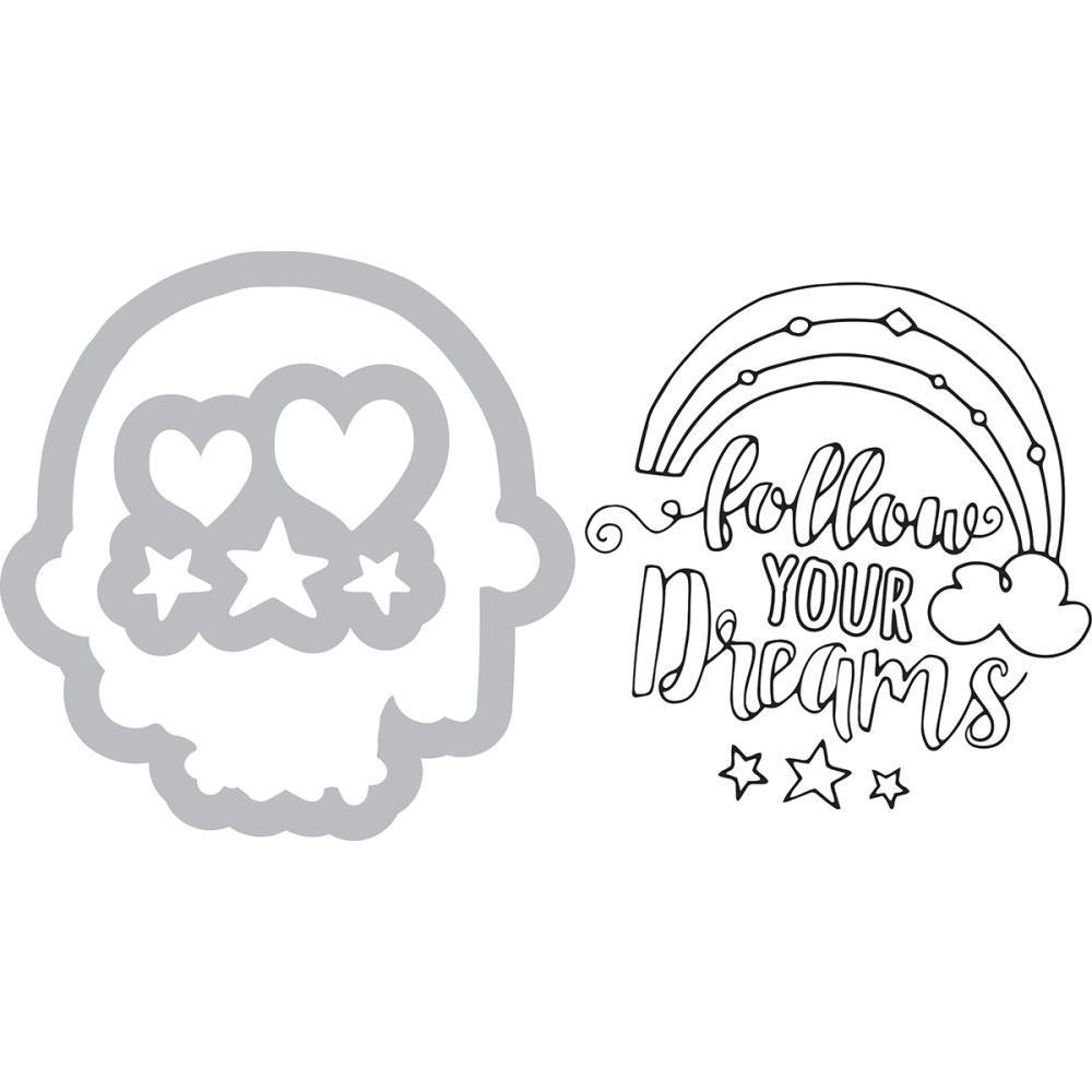 Sizzix Framelits Die & Stamp Set By Katelyn Lizardi - Follow Your Dreams