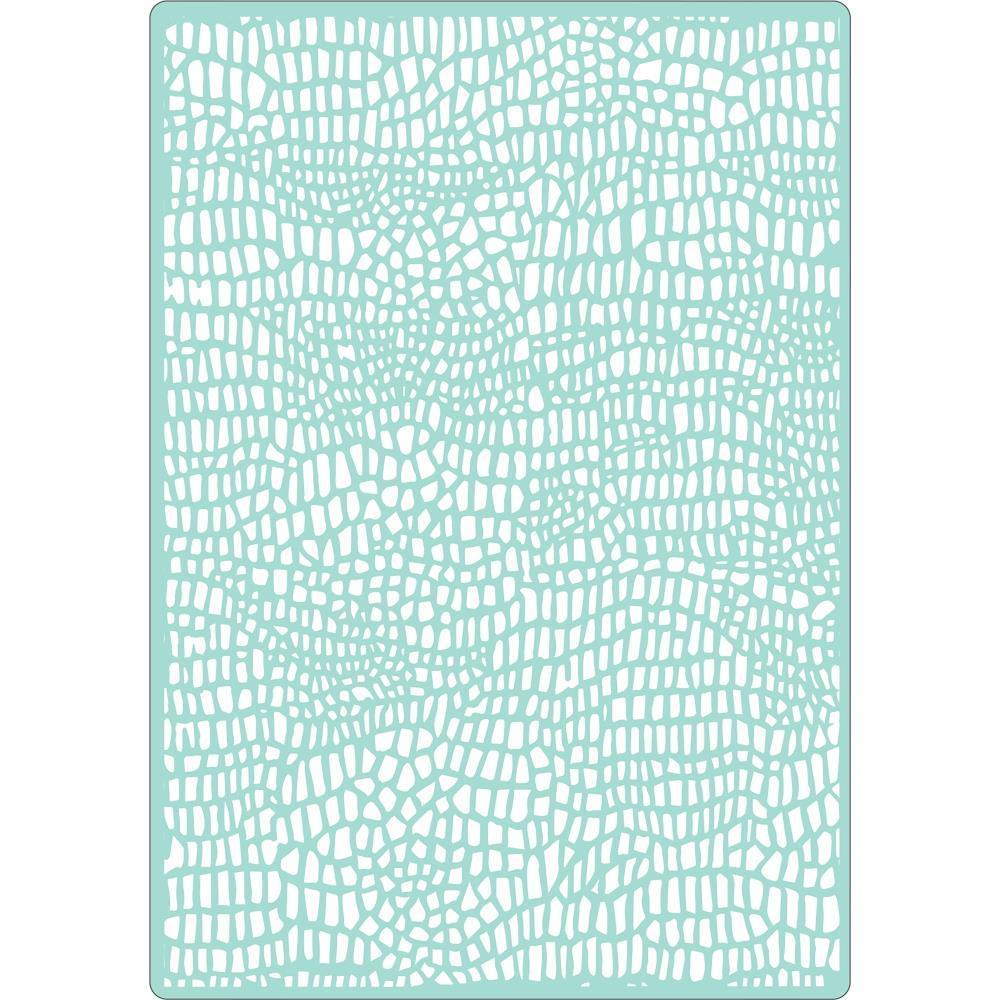 Sizzix Textured Impressions Plus Embossing Folder By Luisa - Cocodrilo (Crocodile)