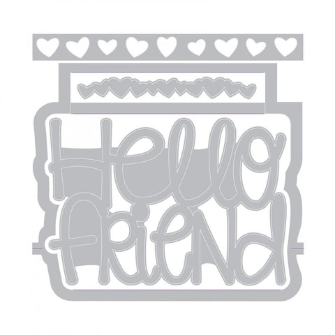 Sizzix - Framelits Dies By Stephanie Barnard - Hello Friend 3D Drop-Ins