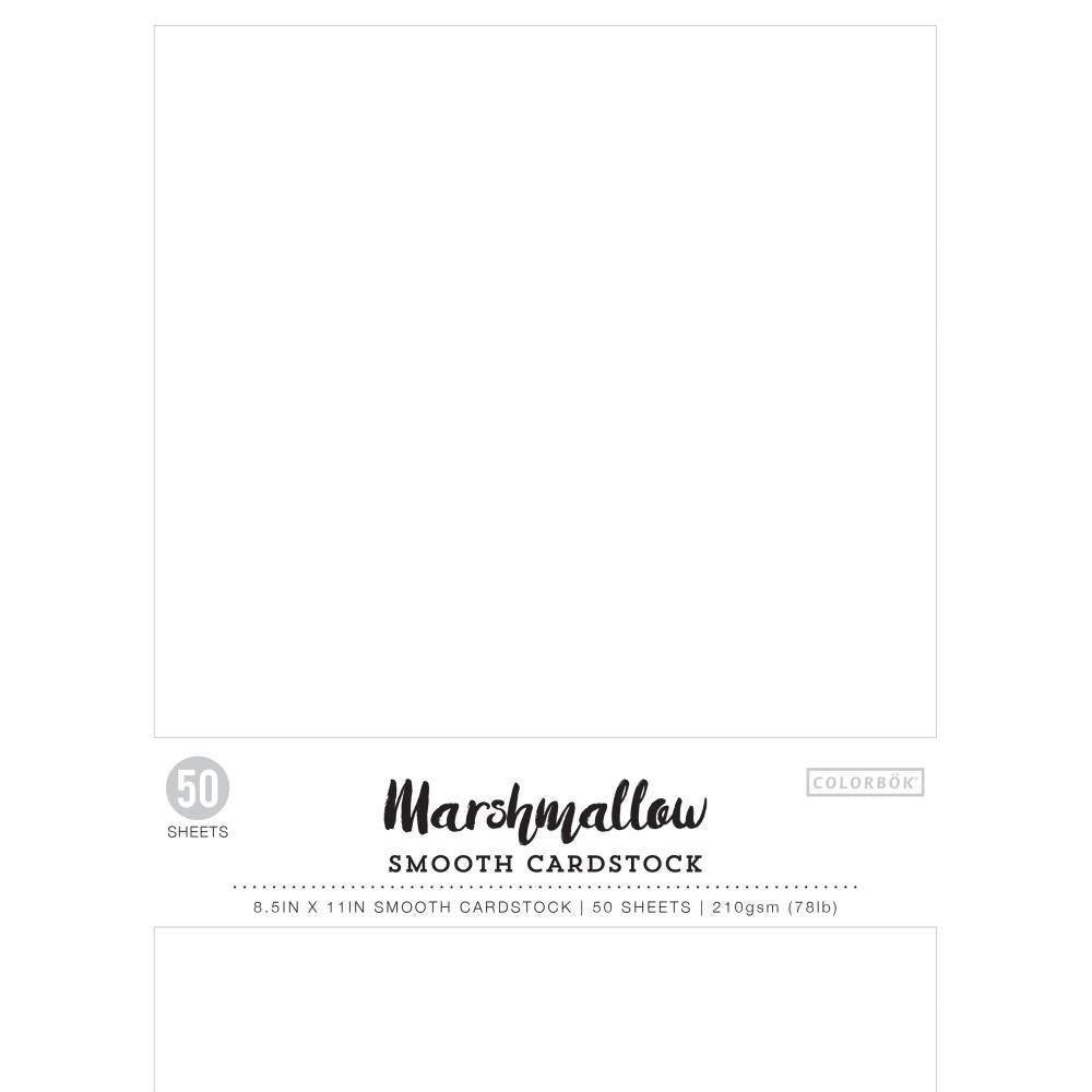 Colorbok 78lb Smooth Cardstock 8.5 inch X11 inch 50 pack Marshmallow