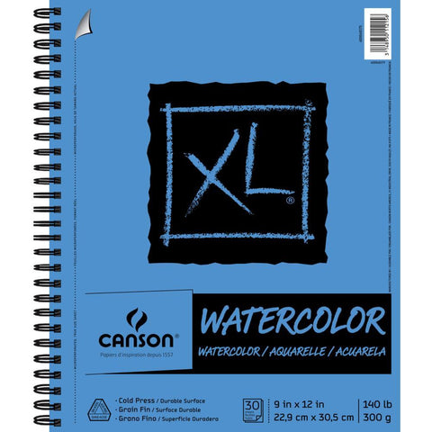 Canson XL Watercolour Pad 9x12 inch 30 Sheets
