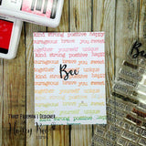 Honey Bee - Bee-You-Tiful Sentiments - 4x8 Stamp Set