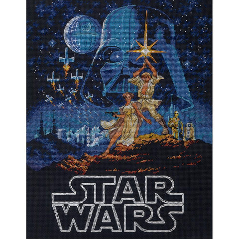 Dimensions Star Wars Counted cross-stitch Kit 11in x 14in - Luke & Princess Leia (14 counts)