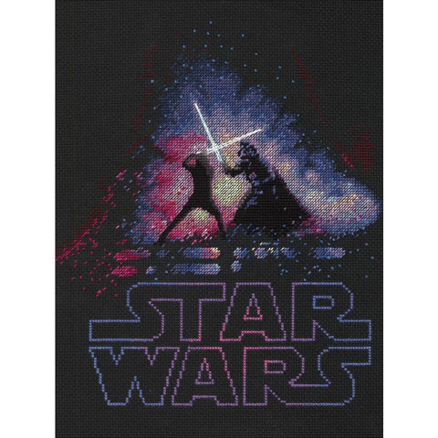 Dimensions Star Wars Counted Cross-Stitch Kit 9in x 12in - Luke & Darth Vader (14 counts)