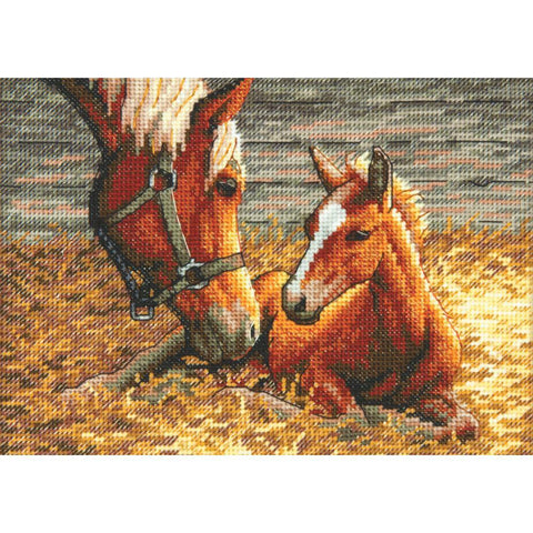 Dimensions Gold Petite Counted Cross Stitch Kit 7inch X5inch Good Morning (18 Count)