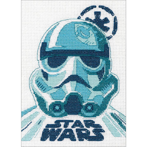 Dimensions Star Wars Counted Cross-Stitch Kit 5in x 7in - Stormtrooper (14 counts)