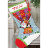 Dimensions Stocking Needlepoint Kit 16 inch Long Santas Balloon Ride Stitched In Yarn