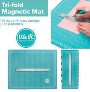 We R Memory Keepers-Tri Fold Magnetic Mat w/ 15 inch Metal Ruler.