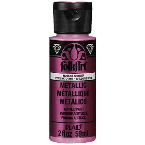 FolkArt Metallic Acrylic Paint 2oz - Rose