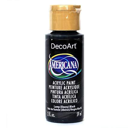 Deco Art Americana Acrylic Paint 2oz - Soft Black - Opaque
