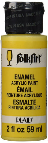 FolkArt Enamel Paint 2oz - Lemon Custard