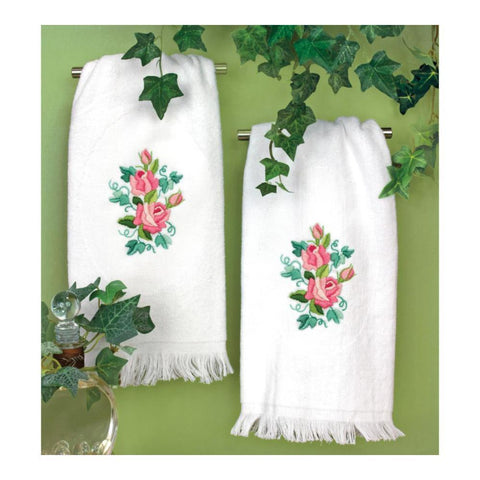 Dimensions - Stamped Embroidery Guest Towels 16X26in 2 per pack