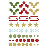 Simple Stories Enamel Dots & Shapes - Classic Christmas *