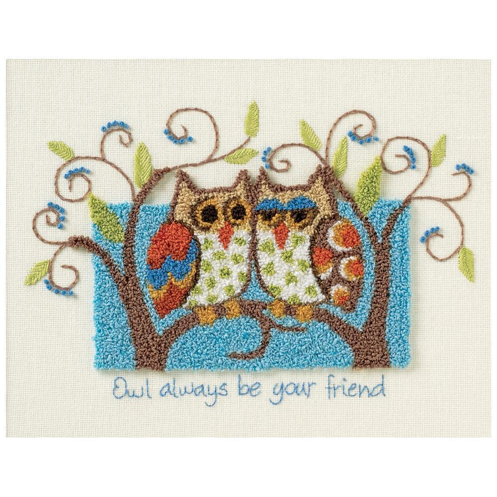 Dimensions Punch Needle Kit 10x8 - Owl Always Be Your Friend