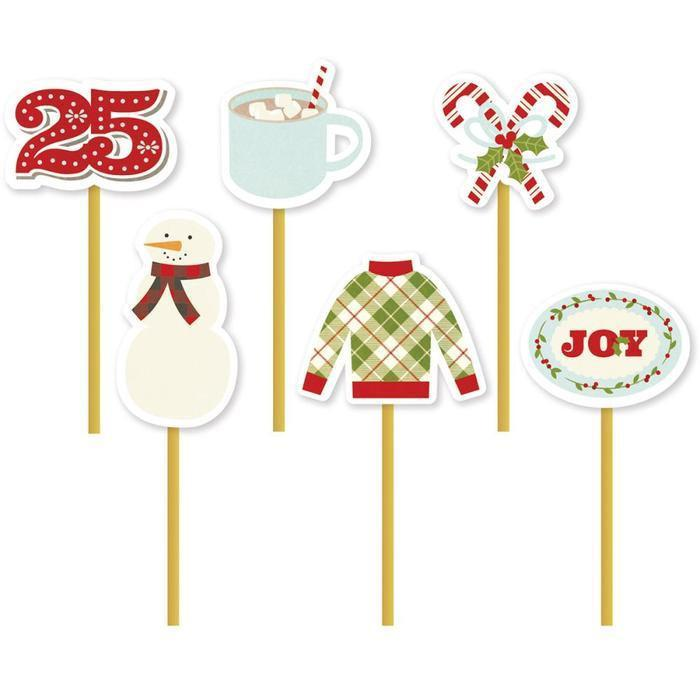 Simple Stories Decorative Clips - Classic Christmas *